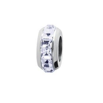 316 stainless steel and provence lavender Swarovski® Elements crystals