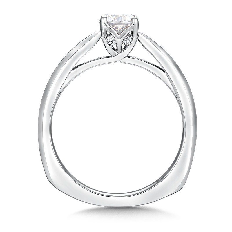 Valina Solitaire mounting .04 tw., 1/2 ct. round center.