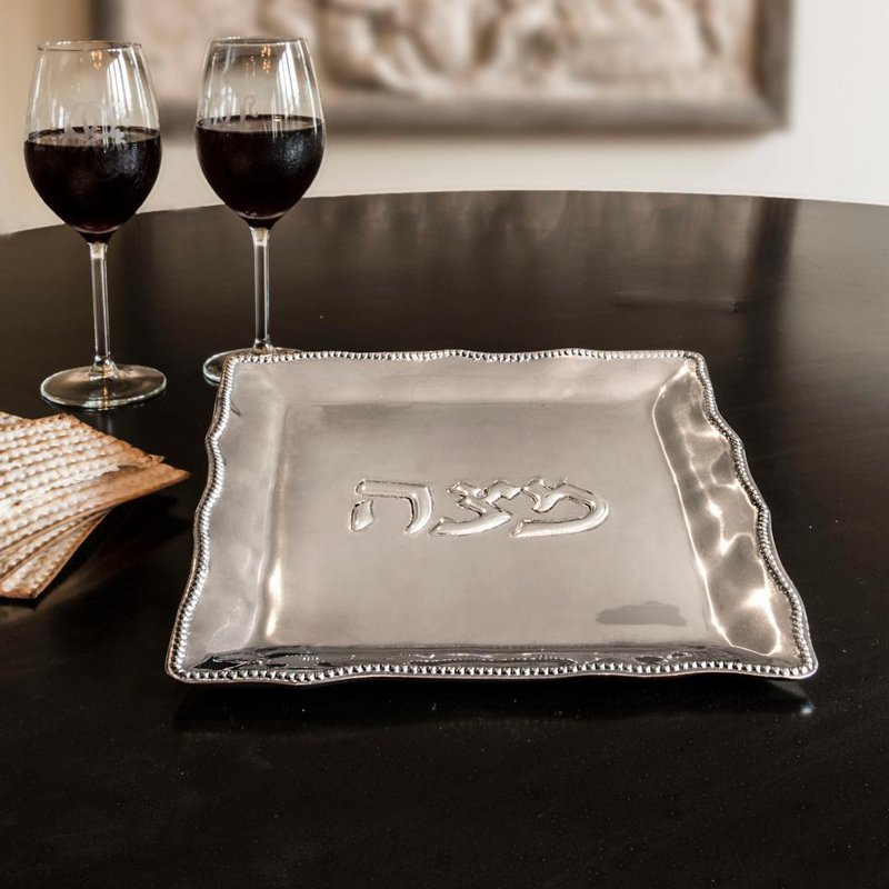 Beatriz Ball Matzo Plate with Pearls