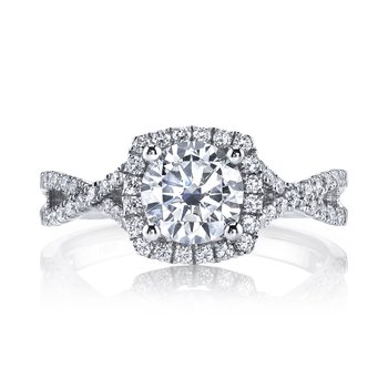 25136 Diamond Engagement Ring 0.37 ct tw