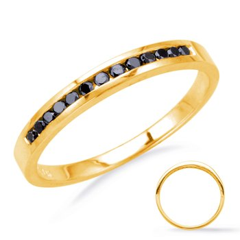 Yellow Gold Black Diamond Band