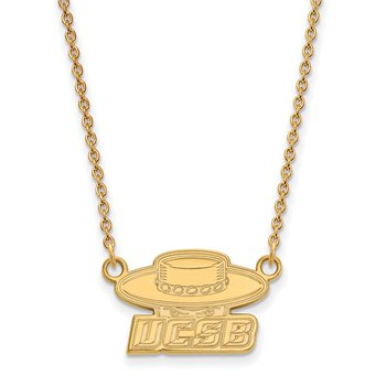 Gold University of California Santa Barbara NCAA Necklace