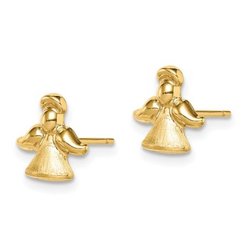 14k Madi K Satin & Polished Angel Post Earrings