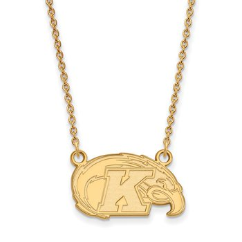 Gold-Plated Sterling Silver Kent State University NCAA Necklace