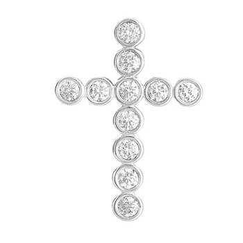 Diamond Cross Pendant 28mm