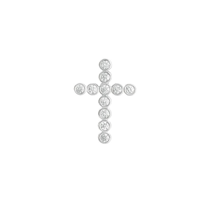S. Kashi  & Sons Diamond Cross Pendant 28mm