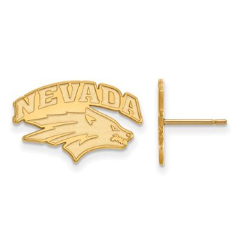 Gold University of Nevada NCAA Earrings