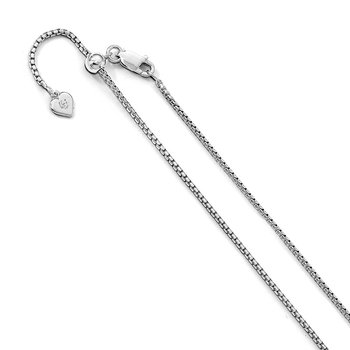 Leslie's Sterling Silver Adjustable 1.5mm Round Box Chain