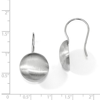 Leslie's Sterling Silver Polished Scratch-finish Dangle Earrings