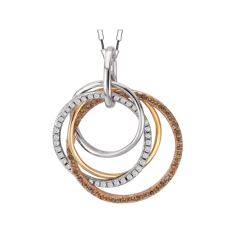 Tesoro Circle Diamond Pendant