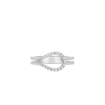 Art Deco Ring With Diamonds &Ndash; 18K White Gold, 6.5