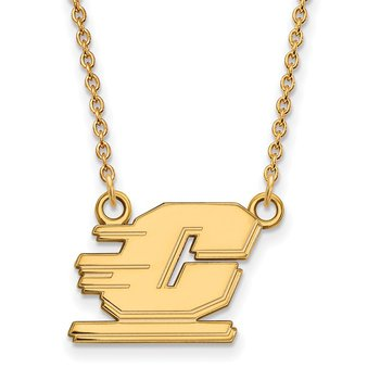 Gold-Plated Sterling Silver Central Michigan University NCAA Necklace