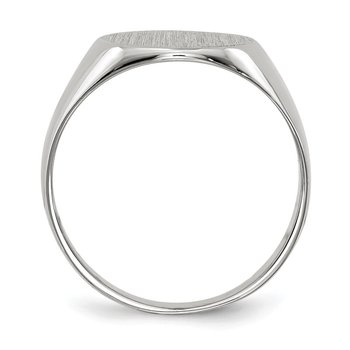 14k White Gold 10.0x11.0mm Closed Back Signet Ring