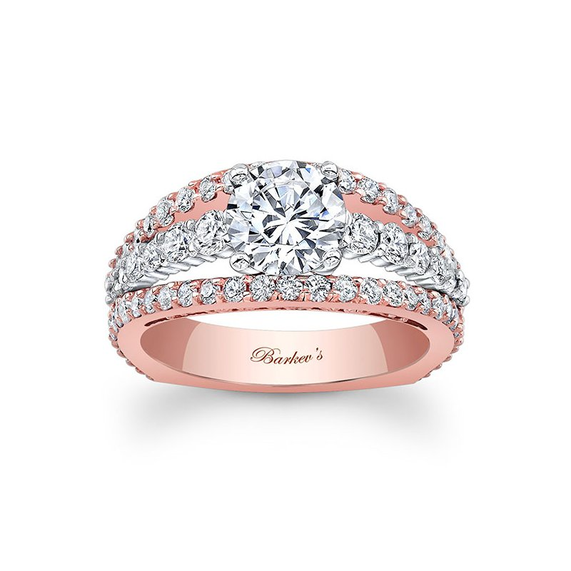 Barkev's Rose & White Gold Engagement Ring