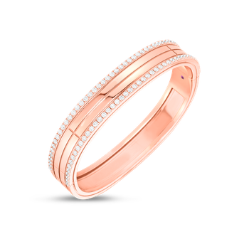 18K GOLD & DIA EDGE 4 ROW PORTOFINO BANGLE