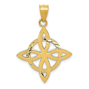 14k Medium Celtic Eternity Knot Charm