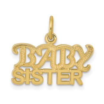 10K BABY SISTER Charm