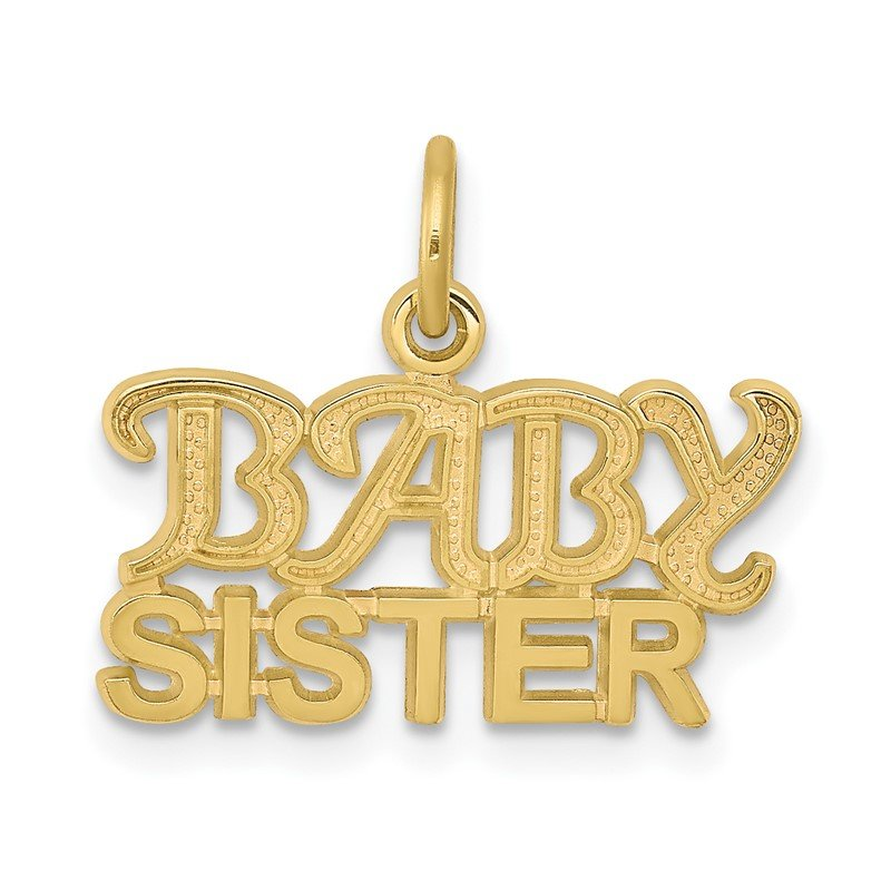 Quality Gold 10K BABY SISTER Charm