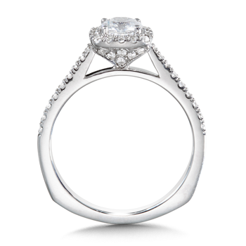 Diamond Halo Engagement Ring Mounting in 14K White Gold (0.31 ct. tw.)