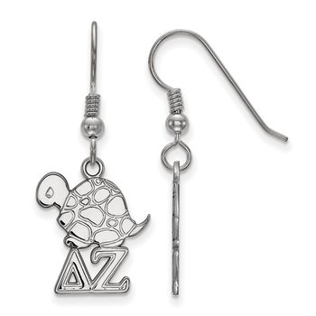 Sterling Silver Delta Zeta Greek Life Earrings