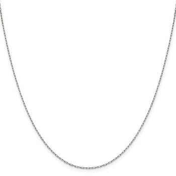 Leslie's 14K White Gold 1.35 mm Long Open Cable Link Chain