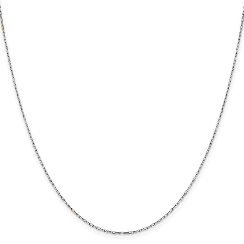 Leslie's Leslie's 14K White Gold 1.35 mm Long Open Cable Link Chain