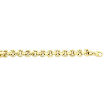 14K Gold Medium Fancy Rolo Heritage Link Bracelet