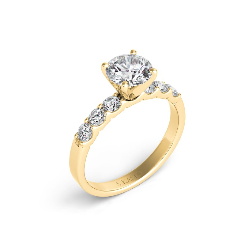 S. Kashi  & Sons Yellow Gold Engagement Ring