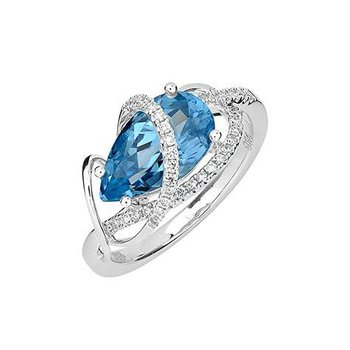 Aqua Blue Spinel Ring-CR11889WAQ