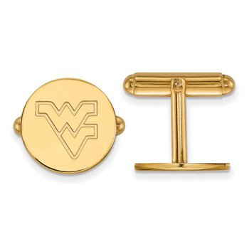 Gold West Virginia University NCAA Cuff Links