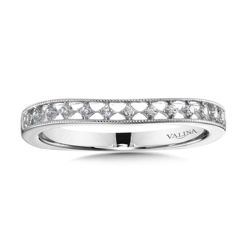 Valina Diamond and 14K White Gold Wedding Ring (0.07 ct. tw.)