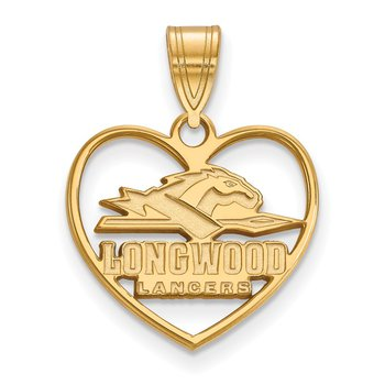 Gold-Plated Sterling Silver Longwood University NCAA Pendant