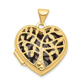 14k 18mm Tree Heart Locket