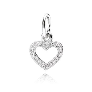 Be My Valentine Pendant, Clear CZ