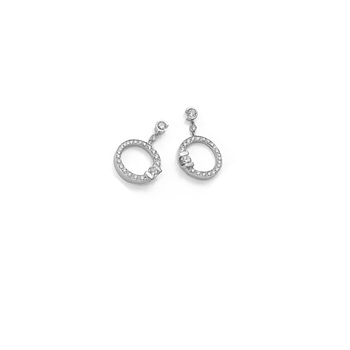 Cento Medium Pave Signature Earrings