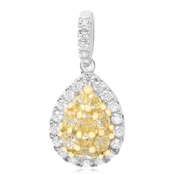 Pear-shaped Diamond Cluster Pendant