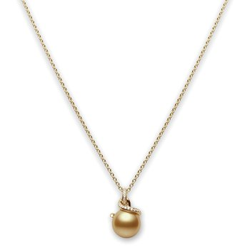 Twist Golden South Sea Cultured Pearl Pendant