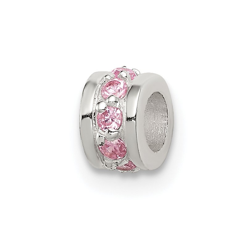Quality Gold Sterling Silver Pink CZ Spacer Enhancer