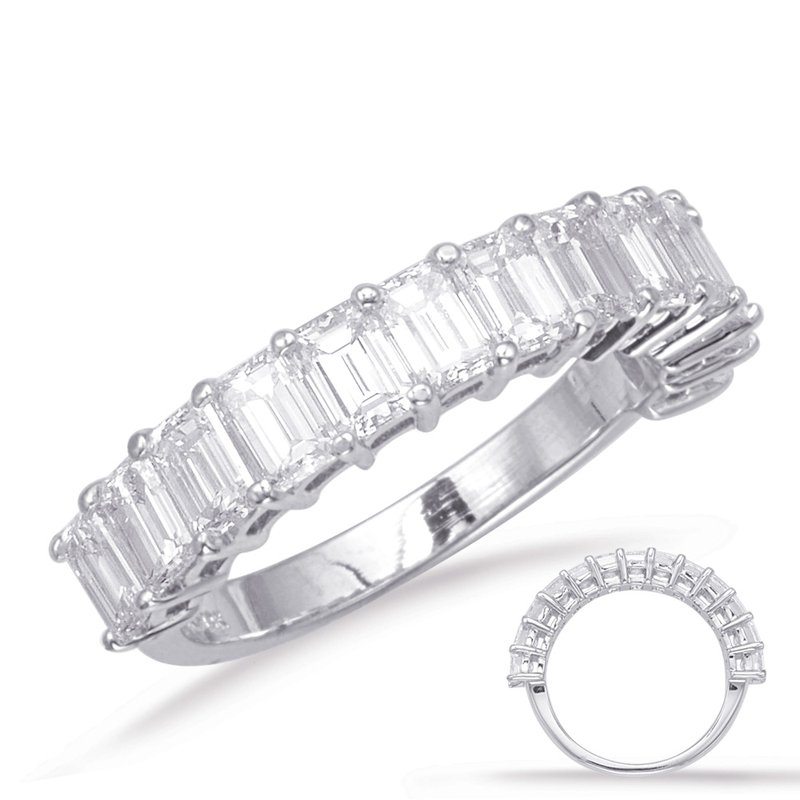 S. Kashi & Sons Bridal Emerald cut Diamond Band