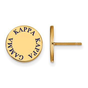 Gold-Plated Sterling Silver Kappa Kappa Gamma Greek Life Earrings
