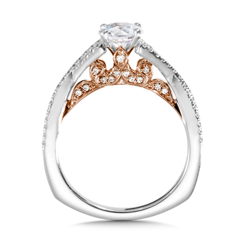 Diamond Engagement Ring Mounting in 14K White Gold (0.38 ct. tw.)
