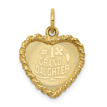 14k #1 GRANDDAUGHTER Disc Charm