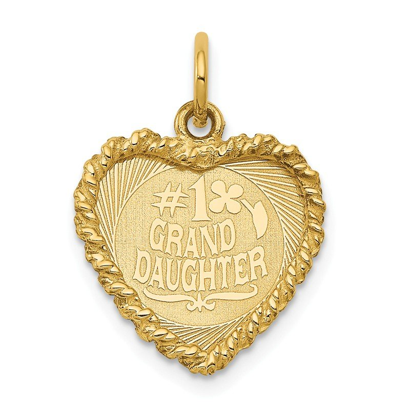 Quality Gold 14k #1 Granddaughter Disc Charm