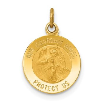 14k Guardian Angel Medal Charm