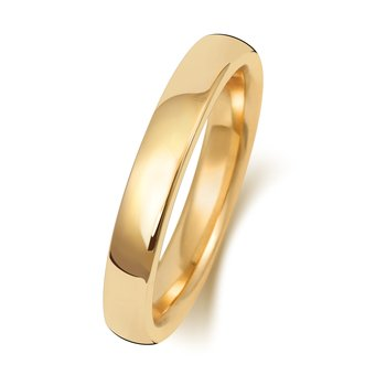 9Ct Yellow Gold 3mm Soft Court Wedding Ring