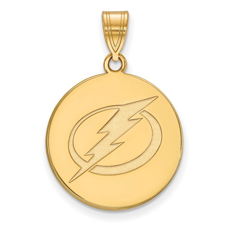 NHL Gold-Plated Sterling Silver Tampa Bay Lightning NHL Pendant
