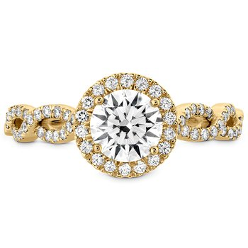 0.39 ctw. Destiny Lace HOF Halo Engagement Ring - Dia Intensive