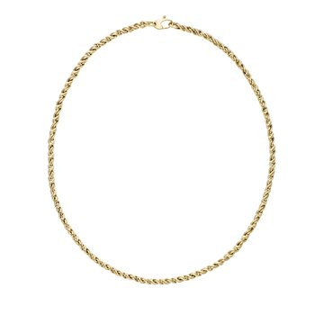 14K Gold Modern Braid Link