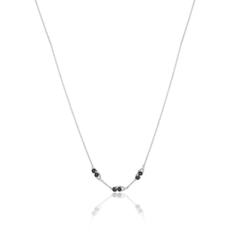 Tacori Fashion Petite Open Crescent Gemstone Necklace with Black Onyx
