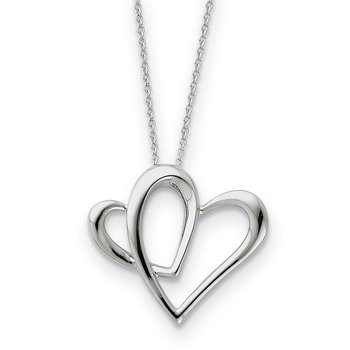 Sterling Silver Daughter A Part of My Heart 18in Necklace